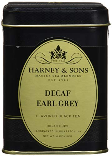 Decaffeinated Earl Grey, Loose tea in 4 Ounce tin