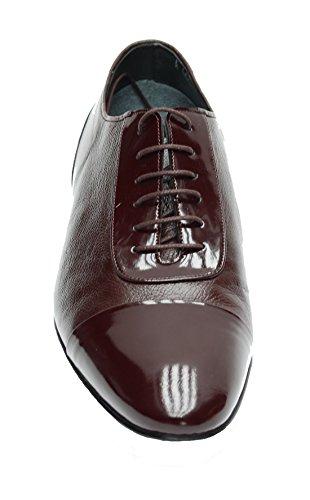 Muga Mens Business casual Shoes -2220, Bordeaux, Size 41