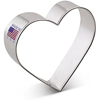 Ann Clark Heart Cookie Cutter - 3.25 Inches - Tin Plated Steel