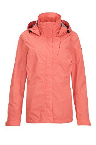 Killtec Women's Lalina Functional Jacket with Detachable Hood Coral
