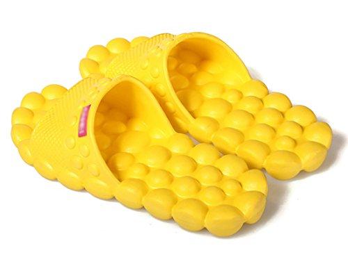 AckMond - Zapatillas de estar por casa para mujer Amarillo amarillo EU 38 to 40