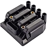 ENA Lifetime Warranty New Ignition Coil on Plug Pack Fits Volkswagen 2.0L L4 Compatible with UF484 C1393 52-1741 IC564 06A 905 097
