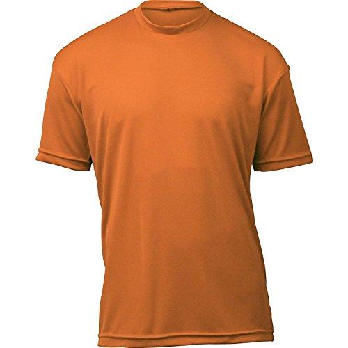 WSI Microtech Loose Short Sleeve Shirt, Burnt Orange, - Shirt Orange Burnt
