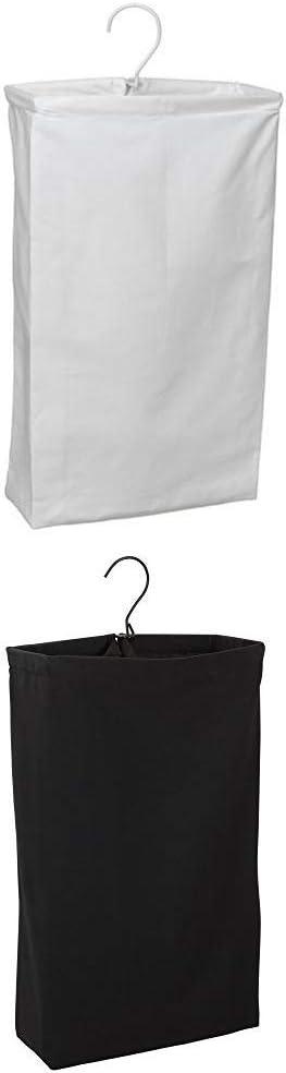 Household Essentials 148 Hanging Cotton Canvas Laundry Hamper Bag | WhitewithHousehold Essentials 149-1 Hanging Cotton Canvas Laundry Hamper Bag - Black