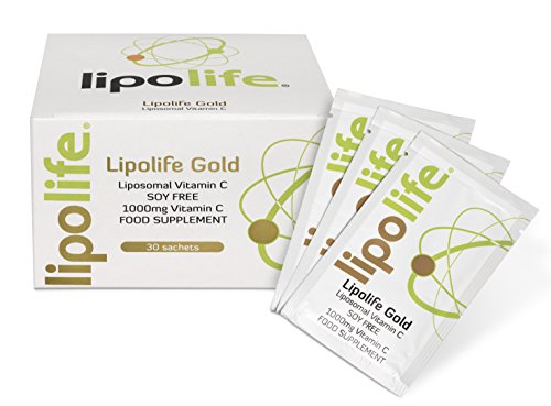 Lipolife Gold SF - Formulated with Quali-C and Sunflower Lecithin - Liposomal Vitamin C - 30 Individual Sachets - Lipolife