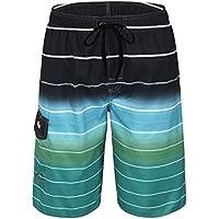 nonwe de los hombres anudado Quick Dry Pantalón corto de rayas