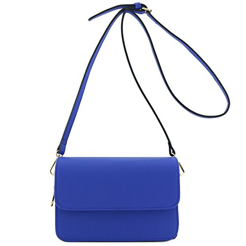 Compartment Bag Clutch Blue Triple Crossbody Royal 4qOxnUwpv