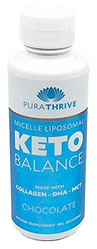 PuraTHRIVE Liposomal Keto Balance Ketosis Supplement – Grass Fed Beef Collagens, Cocunut MCTs, Algal DHA – 8oz Liquid Bottle – Increase Fat Loss, Improve Heart Health, Enhance Cognitive Function For Sale