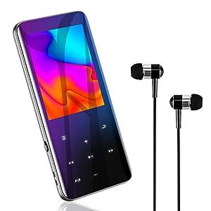 MP3プレーヤー Bluetooth5.0 音楽プレーヤー HIFI超高音質 2.4インチHD大画面/3D曲面