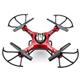 Iusun JJRC H8DH 6-Axis Gyro 5.8G FPV RC Quadcopter Drone HD Camera With Monitor (Red)