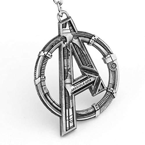 Superhero Keychain with A Logo Powerful Key Ring Halloween Cosplay Keychain I