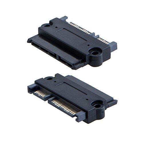 CableCreation 2-Pack SATA 22Pin (7+15 Pin) Male to SATA 22 Pin (7+15Pin) Female Adapter Convertor, Sata Male-Female Adapter