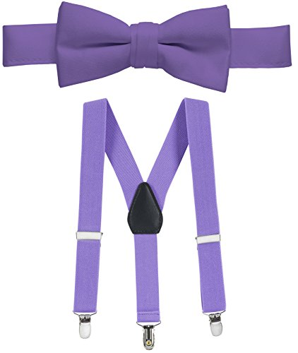 Hold'Em Suspender and Bow Tie Set for Kids, Boys, and Baby -Lavender 22