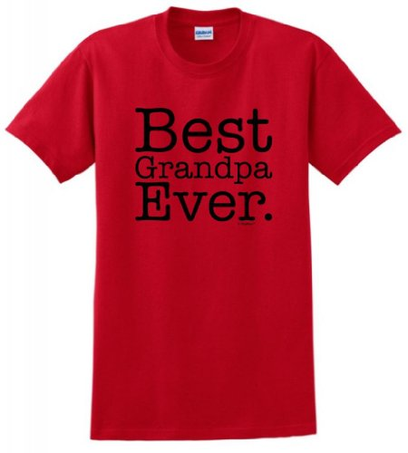 Best Grandpa Ever T-Shirt XL Red