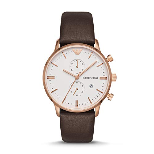 Emporio Armani Men's Brown Leather Watch AR1936 ()