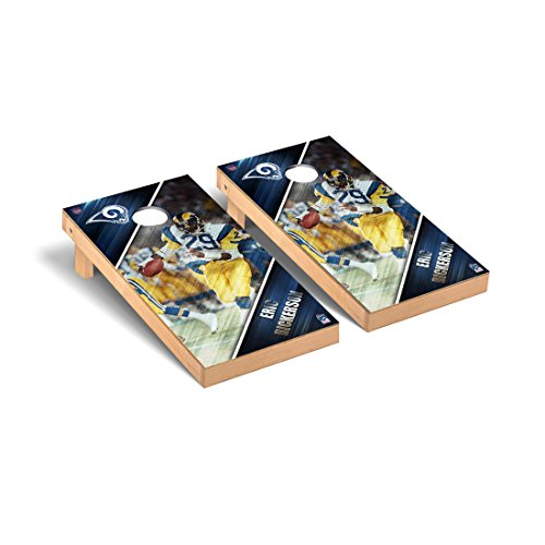 NFL Los Angeles Rams Eric Dickerson FGA Version Corn hole Game Set, One Size by Victory Tailgate