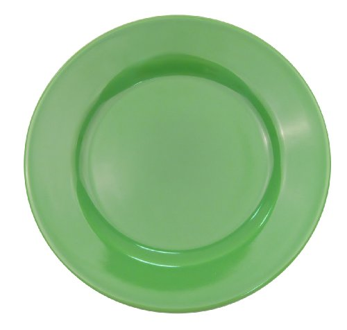 CAC China LV-7-G 7-1/4-Inch Las Vegas Rolled Edge Stoneware Plate, Green, Box of 36 Green Service Plate
