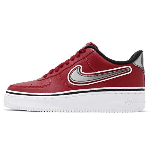 Nike Men's Air Force 1 07 LV8 Sport, Varsity RED/Black-White, 8.5 M US ()