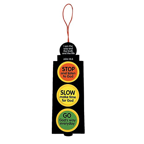 Fun Express - Inspirational Traffic Light Craft Kit - Craft Kits - Hanging Decor Craft Kits - Misc Hanging Decor Craft Kits - 12 Pieces]()