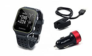 Garmin Approach S20 (Slate) Golf GPS Watch with PlayBetter USB Car Charge Adapter | Activity Tracker, Smart Notifications & 40,000+ Worldwide Courses