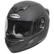 Xpeed Helmet XP 509 Solid Helmet (RT Black, Medium)