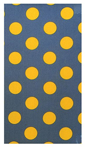 Yellow Polka Dot Cotton Waitstaff Organizer Guest Check Presenter, Check Book Holder for Restaurant, Guest Checkbook Cover, Server Book for Waiter with Money Pocket (With Plastic Covers) by Kathy