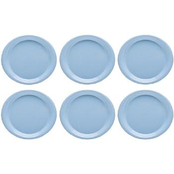 Zak Designs Zakwave 10-inch Microwavable Plate Blue 6 piece set  sc 1 st  Amazon.com & Amazon.com | Microwave Safe Plates and Bowls 4 Piece Eco-Friendly ...