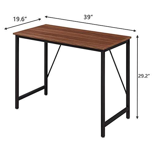 Aart Store Wooden Computer Desk, Study Table, Laptop Desk for Students - Metal Frame