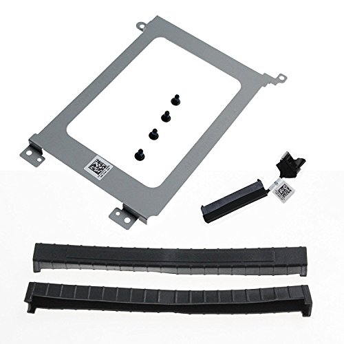 Complete Rail - NEW Dell XDYGX HDD Cable, 3XYT5 Grommet HDD Rubber, 3FDY3 HDD Bracket Caddy for Dell XPS 15 9550, 9560 Complete Set