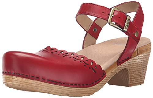 Dansko Women's Marta Heeled Sandal, Red Full Grain, 41 EU/10.5-11 M US by Dansko