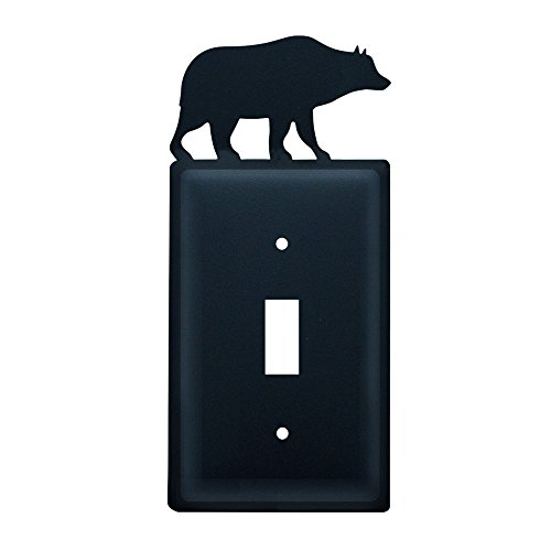 Village Wrought Iron 8 Inch Bear Single Switch Cover