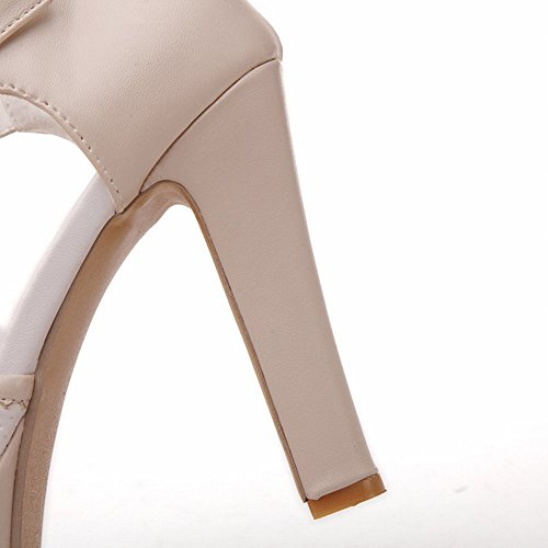Beige Peep Bows Shoes Cosplay Buckle Womens Sandals Heeled toe Sweet Lolita Carol Platform IwC7XxcqC