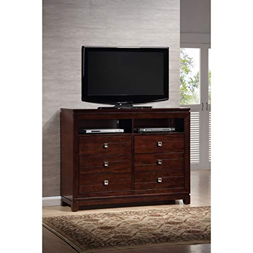 (Picket House Furnishings London TV Stand in Warm Cherry)