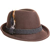 Britta Products Holiday Oktoberfest Wool Bavarian Alpine Hat - Brown Color - Size Extra Extra Large (XXL)