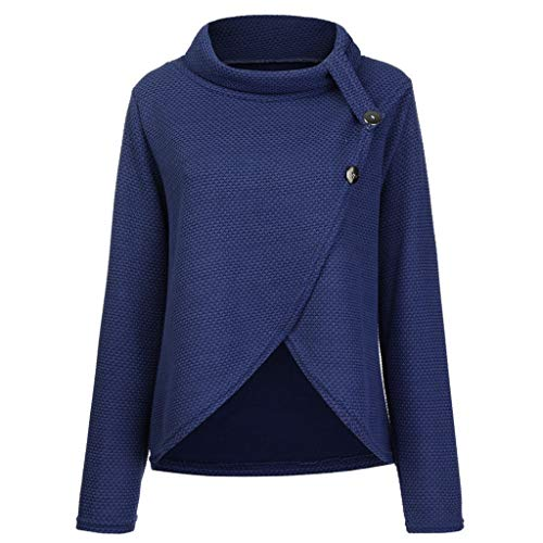 XEDUO Blouse Fashion 2019, Womens Long Sleeve Button Cowl Neck Casual Knitted Pullover Tunic Sweaters