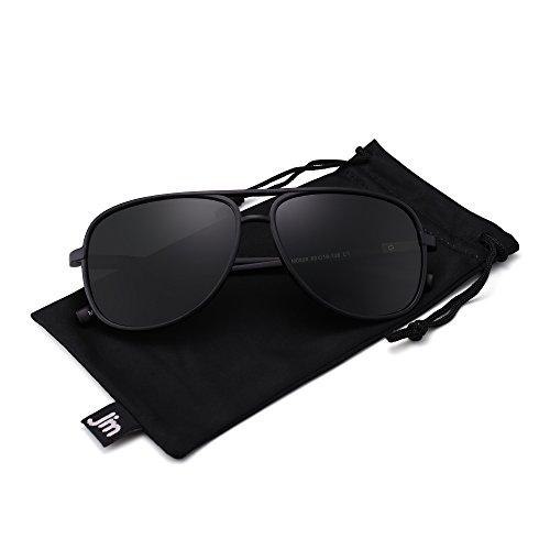 Espejo Hombre Sol de Ligero Retro Gafas JM Gris Polarizadas Polarizado Aviator Negro Peso Mujer Para Anteojos Mate WBnHHYPq