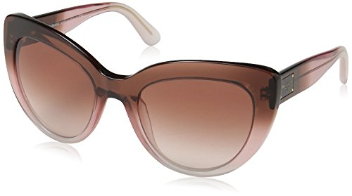 (Dolce & Gabbana Women's Acetate Woman Sunglass Cateye, Bordeaux Grad/Pink/Powder, 53 mm)