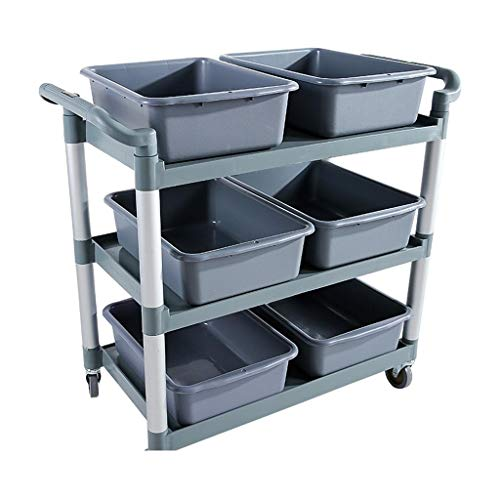 - YD Rack - Multi-Function Mobile Dining Car Hotel Restaurant Stainless Steel Meal Service Trolley /& (Color : B, Size : 794997cm)