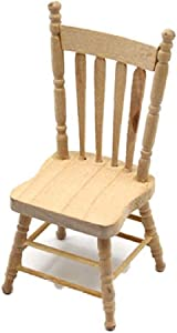 Melody Jane Dollhouse Bare Wood Side Chair Miniature Unfinished Dining Room Furniture 1:12