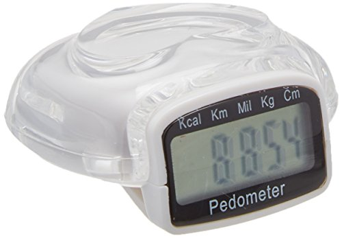 Sammons Preston Economy Pedometer with Clip, Athletic Trainer and Tracker with Timer, Stopwatch, Set Weight, Measures Calories, Running and Walker Step Counter with Accurate Tracking and Monitoring (Compact Pedometer)