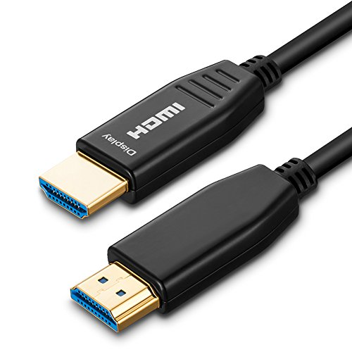 ShineKee Fiber 4K HDMI Cable 150 ft 60Hz HDMI 2.0 Cable HDR, ARC, HDCP2.2, 3D, High Speed 18Gbps Subsampling 4:4:4/4:2:2/4:2:0 Slim and Flexible HDMI Fiber Optic Cable (150ft) by ShineKee