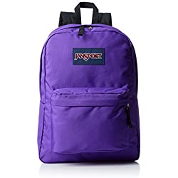 JanSport SuperBreak Backpack (Signature Purple)