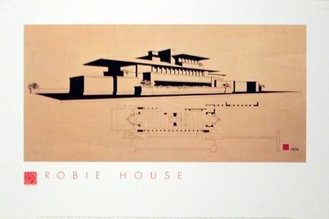 Frank Lloyd Wright Póster (91x61 cm) Robbie House