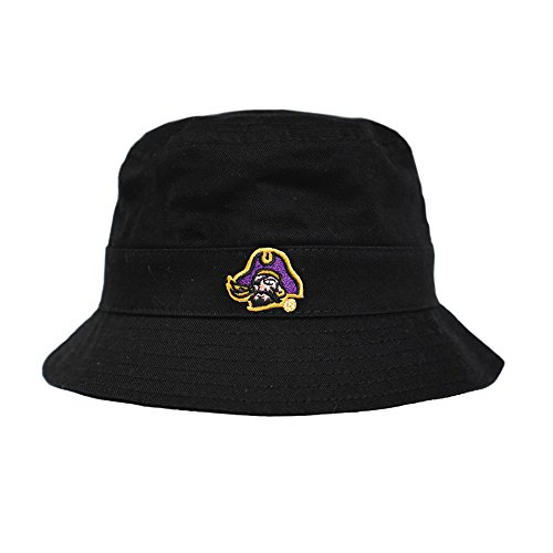 (East Carolina Black Infant Bucket Hat with Pirate Head Logo ECU)