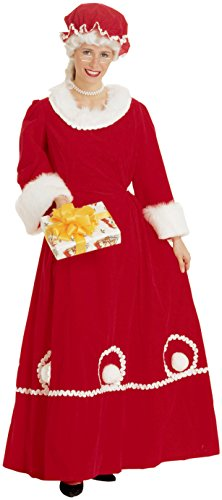 Rubie's Women's Mrs. Santa Costume, Red, (Classic Mrs Claus Adult Costumes)