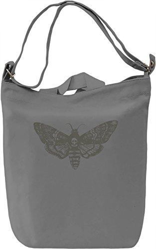 Death moth Borsa Giornaliera Canvas Canvas Day Bag| 100% Premium Cotton Canvas| DTG Printing|