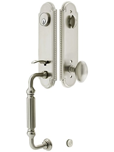 Orleans Style Tubular Handleset Single Cylinder in Satin Nickel with Egg Knob and 2 3/8