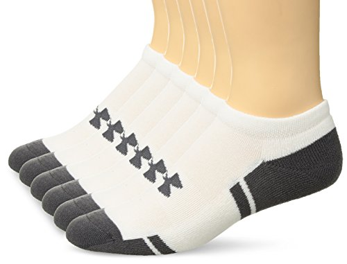 Under Armour Resistor 3.0 No Show, White/Graphite, Shoe Size: Mens 8-12, Womens 9-12