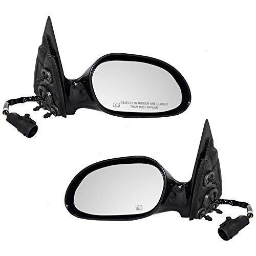 Driver and Passenger Power Side View Mirrors Heated Smooth Replacement for Ford Taurus Mercury Sable XF1Z17682EAA XF1Z17682GAW (Taurus Power Side View Mirror)