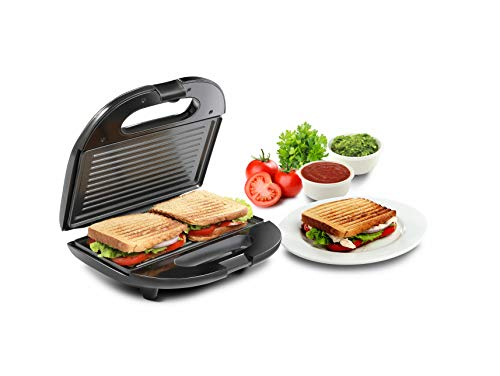 Russell Hobbs RST750GR 750 Watt Non-Stick with Fixed Grilled Plate Crispy Sandwich Toaster for Multi Snacks 2021 August Warranty & Serviceability -2 Years Manufacturer warranty, Service center available PAN India , for city coverage details you may contact us on : [18001020107] 750 Watt Power Requirement Thermostatically controlled with two pilot lights